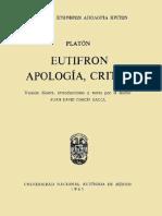 Platón - Ευθύφρων. Ἀπολογία. Κρίτων • Eutifrón. Apología. Critón.pdf