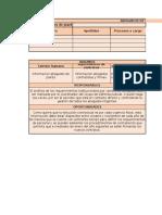 Planilla No. 1 - información institucional para la gestión de la defensa