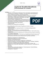 Ausbildungsberuf Konditor-Konditorin Unterrichtsinhalte der Lernfelder (3)