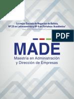 Brochure MADE SUCRE 2020-2021 comprimido