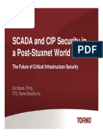 Tofino - SCADA and CIP Security in a Post Stuxnet World
