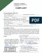 Florida Ethics Complaint 3 21 2020