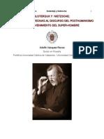 Adolfo Vasquez Rocca _ 'Sloterdijk y Nietzsche; De Las Antropotecnias Al Discurso Del Posthumanismo y El Advenimiento Del Hombre'