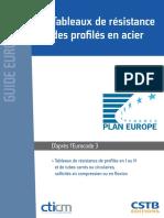 Tableaux de Resistance Des Profiles en Acier Ed1 v1
