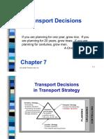Chapter 7 trasportation decision