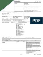 XPO Bill Of Lading - MIS19H058880 - PORK EARS
