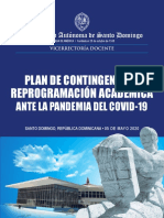 Plan de Contingencia y Reprogramación Académica UASD 2020