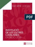 INFORME Sindicatura de Comptes ILC