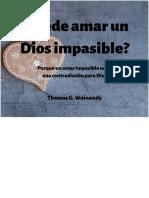 Puede amar un Dios impasible - Thomas G. Weinandy