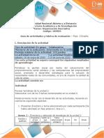 Guia de actividades y Rúbrica de evaluación - Unidad 2- Fase  3 - Diseño