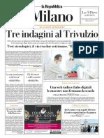 La Repubblica Milano 8 Aprile 2020