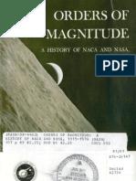 Orders of Magnitude a History of NACA and NASA, 1915-1976