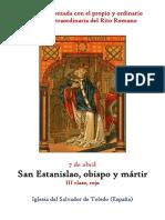 7 de Mayo. San Estanislao obispo y mártir. Propio y Ordinario de la santa misa