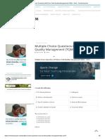 Multiple Choice Questions (MCQ) on Total Quality Management (TQM) – Set 3 - Scholarexpress