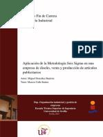 Aplicación de la MetodologÃ_a Seis Sigma en una empresa de diseño
