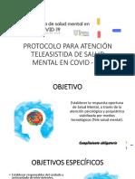teleasistencia en salud mental COVID 19, 7 modulos