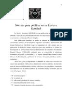 Normas para publicar en su Revista Equidad 2019