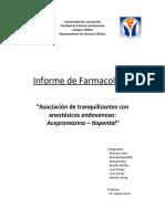 """""""Asociación de tranquilizantes con anestésicos endovenoso"""