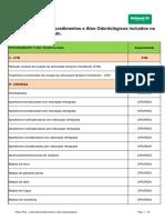 Tabela Procedimentos Odonto Unimed JF