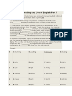 CAE PRACTICE       TEST 1          Reading and Use of English