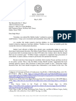 Texas AG Ken Paxton letter to Dallas Judge Eric Moye RE