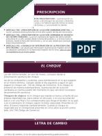 PRESCRIPCIÓN DE TÍTULOS VALORES