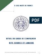 GLMF Rituel Rite Source et Lumière Compagnon
