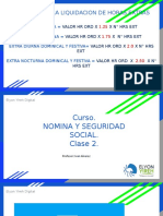 II CLASE NOMINA Y SEGURIDAD SOCIAL