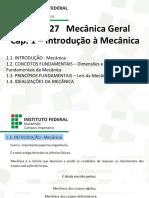 Cap. 1   - Mecânica Geral