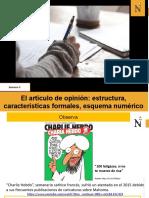 Artículo de opinión- estructura, características formales, esquema numérico