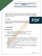 M4-PC-03 Procedimiento Servicios para calibración