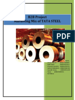 Marketing mix Of Tata Steels