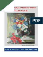 VARSTA INOCENTEI 18-19, 2013-2014 Liceul Roznov