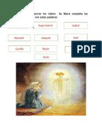 ACTIVIDAD DE RELIGIÓN