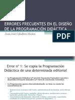 60- ERRORES FRECUENTES EN EL DISEÑO DE LA PROGRAMACIÓN