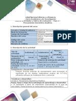 Guía de actividades y Rúbrica de evaluación - Paso 4 - Pensamiento Geométrico Analítico.pdf