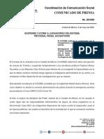 Suspende CJCDMX a Juzgadores del Sistema Procesal Penal Acusatorio