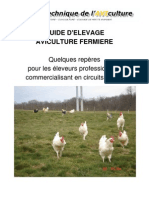 Guide d'élevage aviculture fermière
