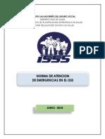 NORMA DE ATENCION DE EMERGENCIAS EN EL ISSS 2018