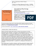 Cognitive behaviour therapy approach to assessing dysfunctional thoughts