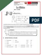 conceptos de la silaba 5to