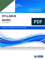 csec music syllabus with specimen papers