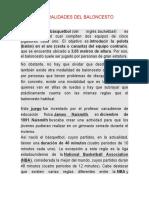 Clase 5. GENERALIDADES DEL BALONCESTO