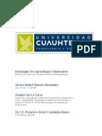 1. 2 ACTIVIDAD. ESTRATEGIAS DE APRENDIZAJE COLABORATIVO. ALVARO RAFAEL MAESTRE BERMUDEZ