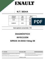 3834A Diagnostico inyeccion Sirius 34
