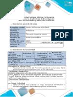 Guía de actividades y rúbrica de evaluación - Tarea 2 - Mapa conceptual y cu
