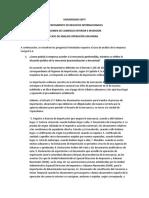 Caso aduanero REGIMEN DE COMERCIO