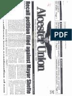 Recall Headlines 2000