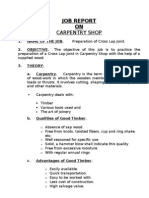 Carpentry Job Report_Cross Lap Joint