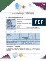 Guía de actividades y rúbrica de evaluación - Fase 3 - Diseño de una prueba